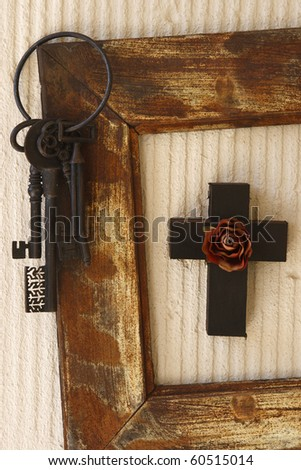 Concept of Christ is the Key to the Father in Heaven - stock photo
