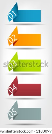 Concept of colorful origami  for different business design. Raster version.