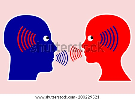 Concept of Communication. Listening closely and mindful with empathy is an important rule - stock photo