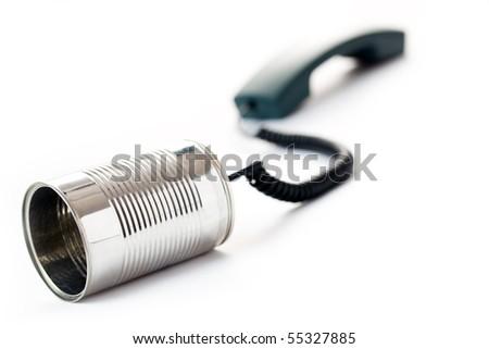 concept of communication on white background - stock photo