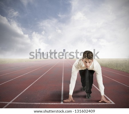 Concept of competition in the business - stock photo