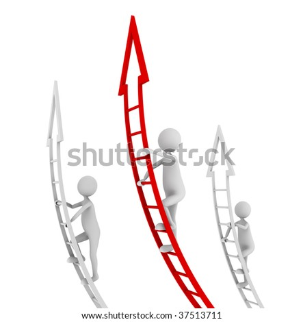 Concept of competition, standing out and being a leader - stock photo