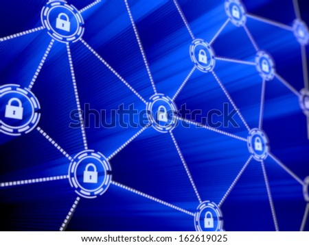Concept of computer data encryption. Data protection. Security enhancement  - stock photo