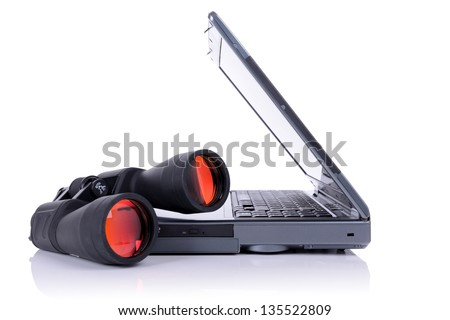 concept of computer or internet search isolated on white - stock photo