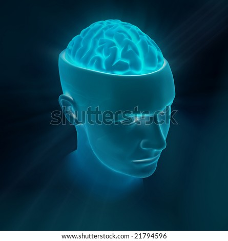 Concept of concentration or crerativity - stock photo