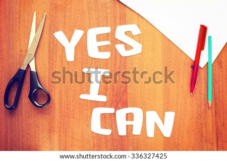 Concept of confidence in own strength - stock photo