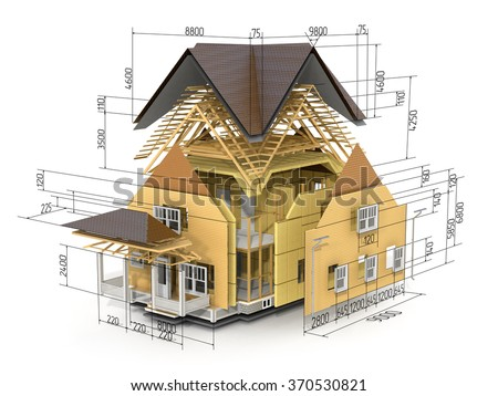 Building section stock images royalty free images for 3d garage builder