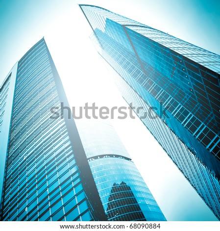 concept of contemporary architecture - stock photo
