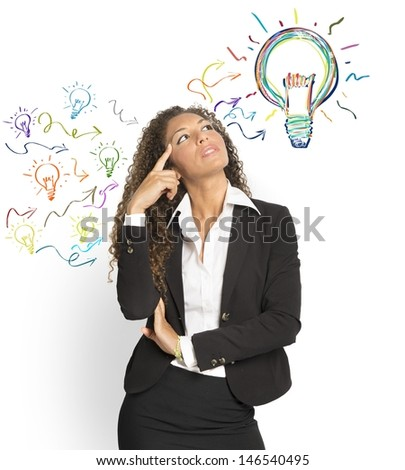 Concept of creating a great idea - stock photo