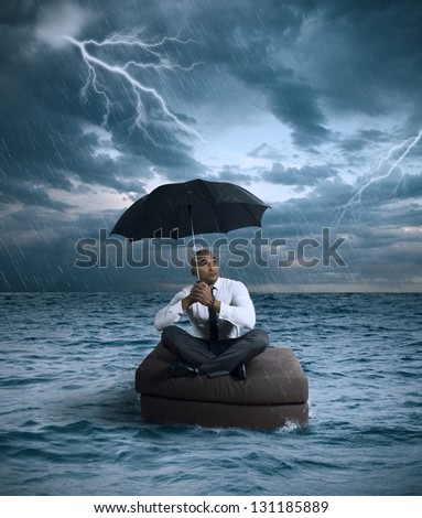 Concept of crisis and difficulty in the business - stock photo