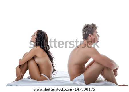 Concept of crisis in relationships between lovers - stock photo