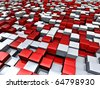 concept of cubes city background - stock photo
