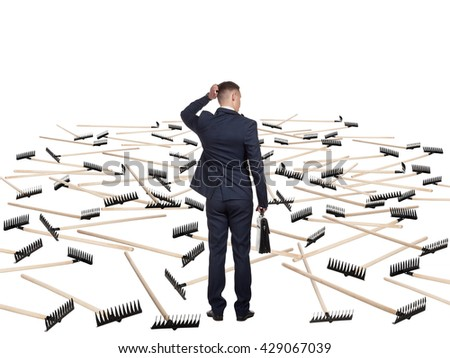Concept of decide difficulty - stock photo