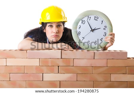 Concept of delay in construction - stock photo