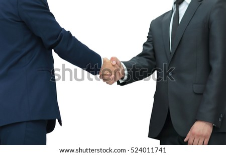 concept of development cooperation - handshake of business partn