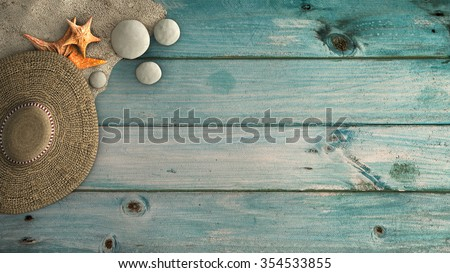 concept of different nautical and marine motifs - stock photo