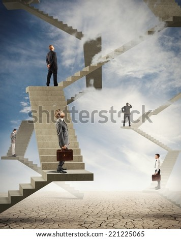 Concept of difficulty and complexity in business - stock photo