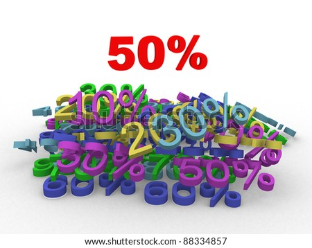 Concept of discount - this is 3d illustration