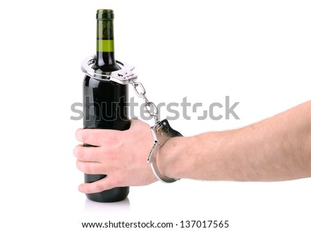concept of drink driving issue and addiction - stock photo