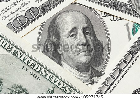 Concept of economical crisis - saddened Franklin cry on the hundred dollar bill - stock photo