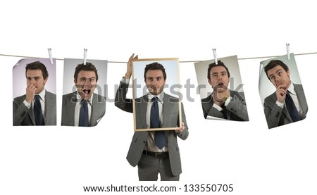 Concept of emotion expression in business - stock photo