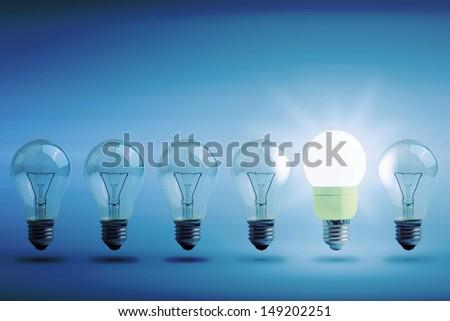 Concept of energy saving - stock photo