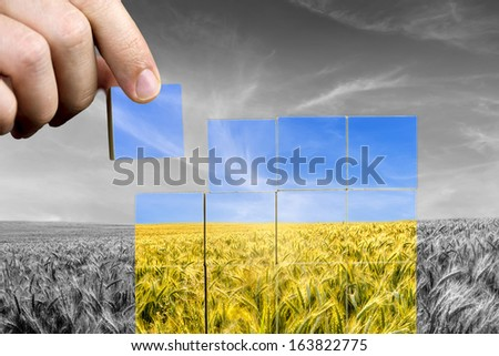 Concept of environmental care and awareness. - stock photo