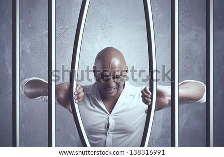 Concept of escape of business problem - stock photo