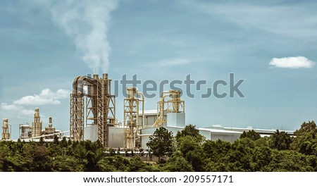 concept of factory and environment - stock photo