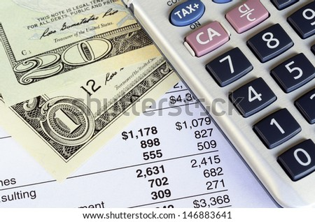 Concept of financial analysis, stock market charts, and business growth - stock photo