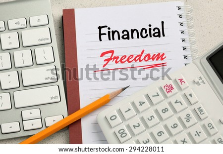 concept of financial freedom - stock photo