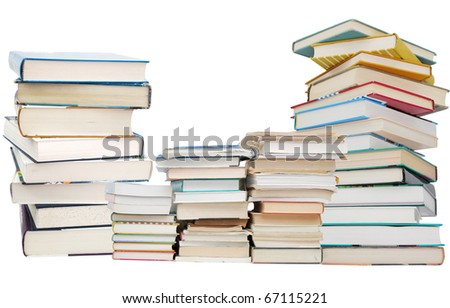 Concept of four years college on studying - stock photo