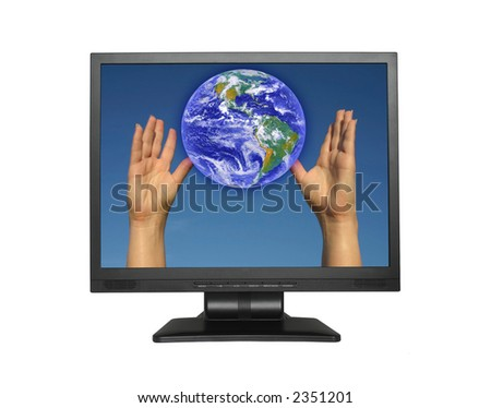 concept of Global communication - stock photo