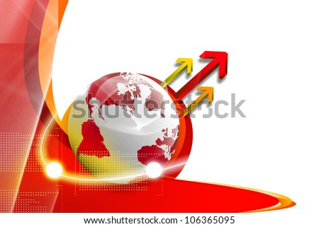 Concept of global connections - stock photo