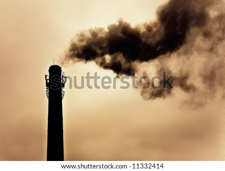 Concept of global warming. Intentional high contrast and sepia. - stock photo