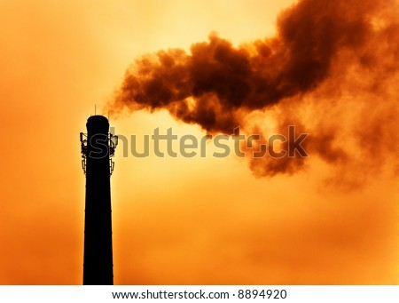Concept of global warming. Intentional high contrast and warm-toning. - stock photo