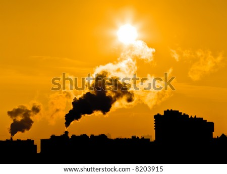 Concept of global warming. Intentional high contrast and yellow toning. - stock photo