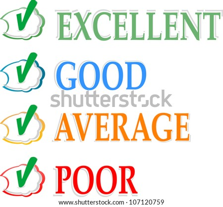 Concept of good credit score for business. Raster - stock photo