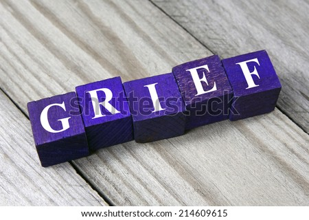 concept of grief - stock photo