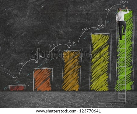 Concept of growth forecast statistics - stock photo