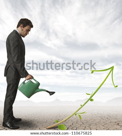 Concept of growth of a company - stock photo