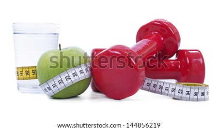 Concept of healthy living or weight loss