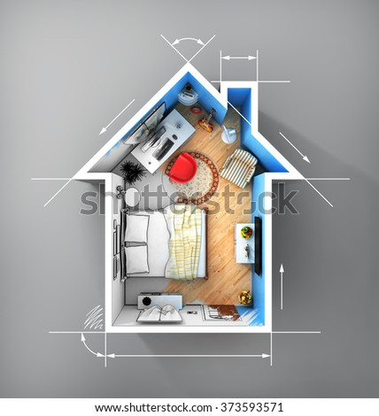 small apartment stock images royalty free images vectors shutterstock. Black Bedroom Furniture Sets. Home Design Ideas