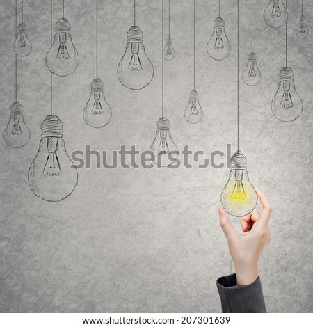 Concept of idea, select, choice etc. - stock photo