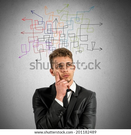 Concept of indecision and confusion in business - stock photo