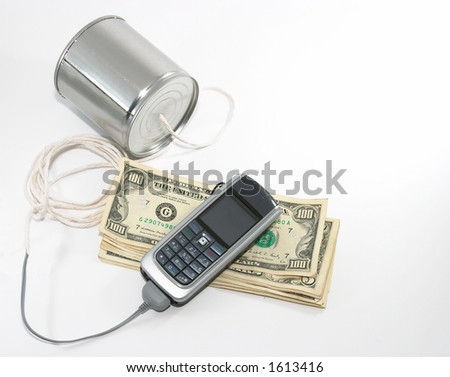 Concept of integrating old technology to new, money making opportunities, and also costs money to support. Integration of old technology to talk to new technology equipment. - stock photo
