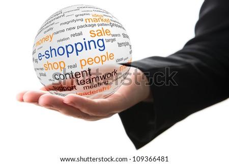 Concept of internet shopping - stock photo
