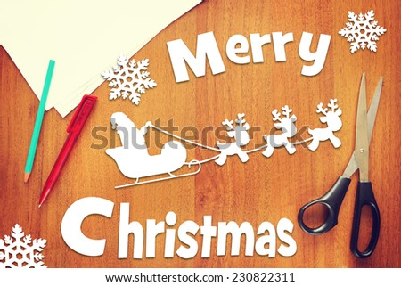 Concept of Merry Christmas holiday - stock photo