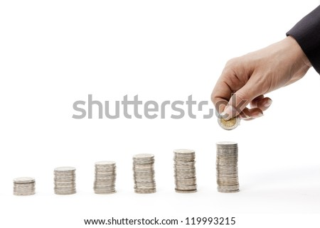 Concept of money growth - stock photo