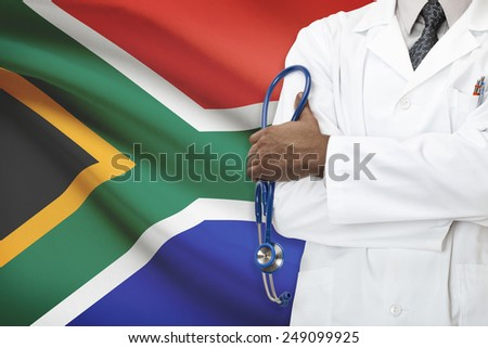 Concept of national healthcare system - Republic of South Africa - stock photo
